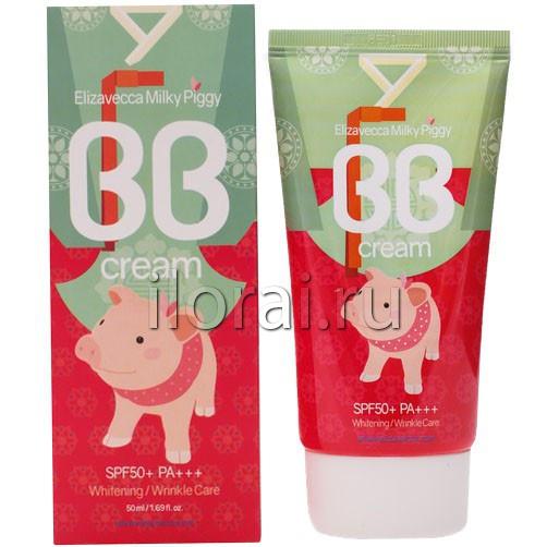 BB крем для лица увлажняющий Milky Piggy BB Cream Elizavecca