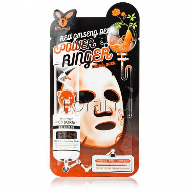 Тканевая маска для лица омолаживающая с женьшенем Elizavecca