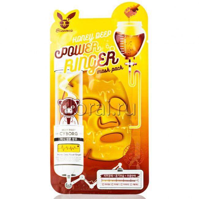 Тканевая маска для лица лифтинг эффект медовая Elizavecca