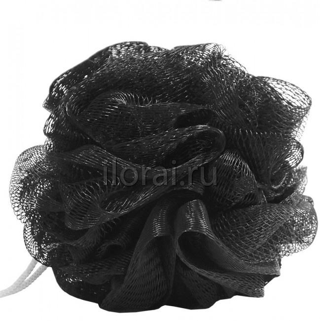 Мочалка для тела чёрная Dewal Beauty